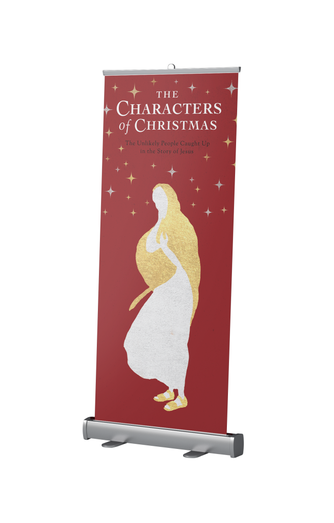 Characters of Christmas Retractable Banner