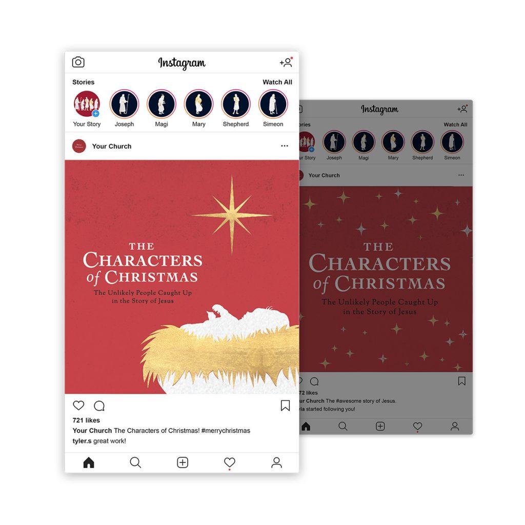 Characters of Christmas Social Media Graphics